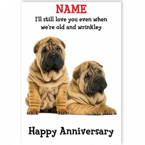Love You When You're Wrinkley Anniversary Card