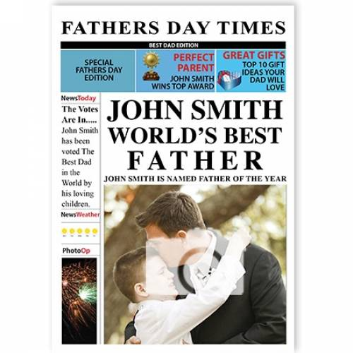 Newspaper Worlds Best Father Card