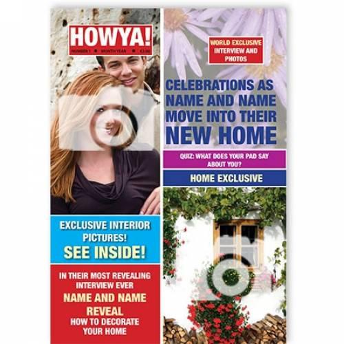Magazine New Home Congratulations Card