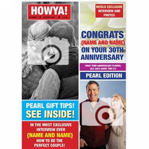 Magazine 30th Pearl Congratulations Happy Anniversary Card