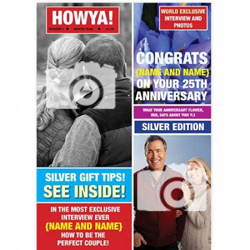Magazine 25th Silver Congratulations On Your Anniversary Card