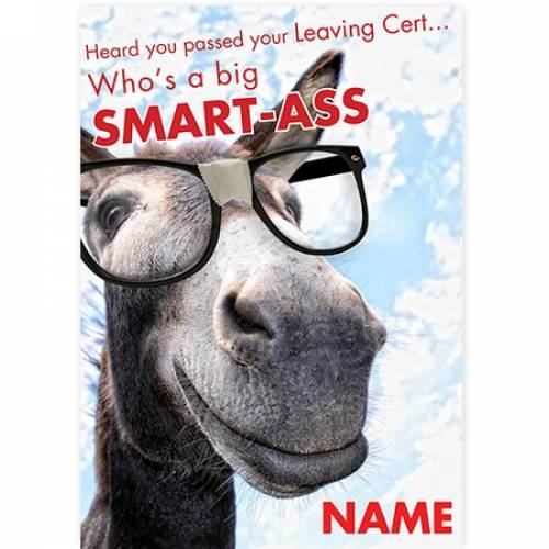 Donkey Smart Ass Passed Leaving Cert Congratulations Card