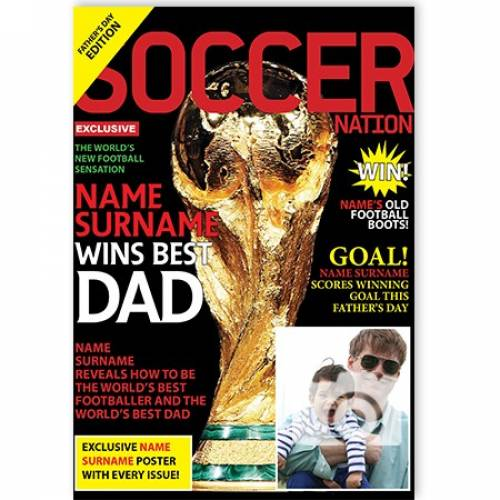 Soccer Football Wins Best Day Father's Day Card