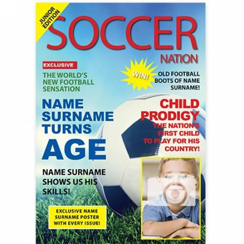 Soccer Football Magazine Happy Birthday Card