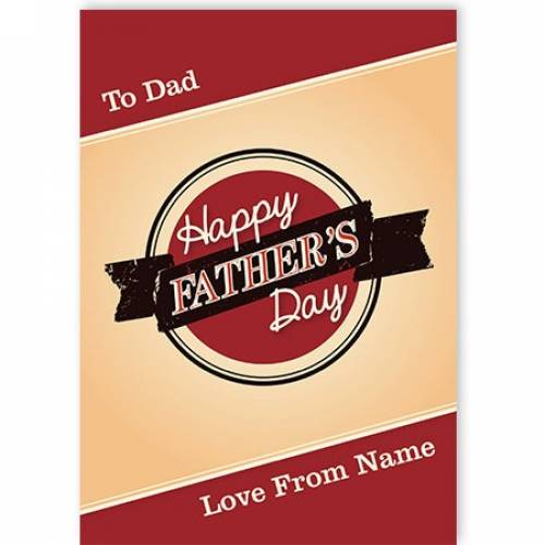 To Dad Happy Father's Day Diner Design Card