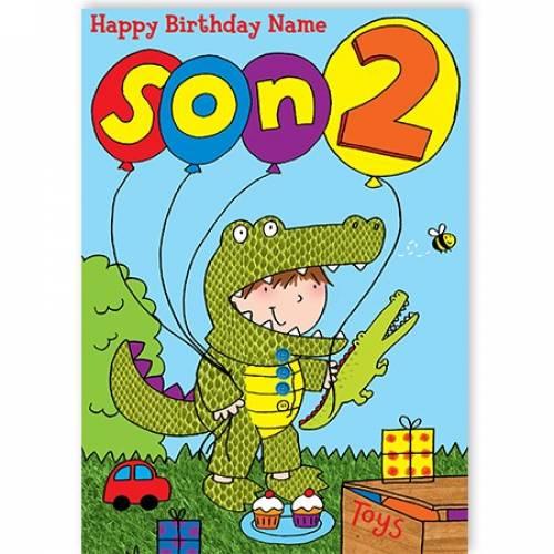 Dinosaur Age Happy Birthday Card