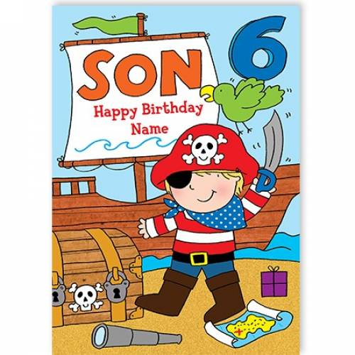 Pirate Son Happy Birthday Card