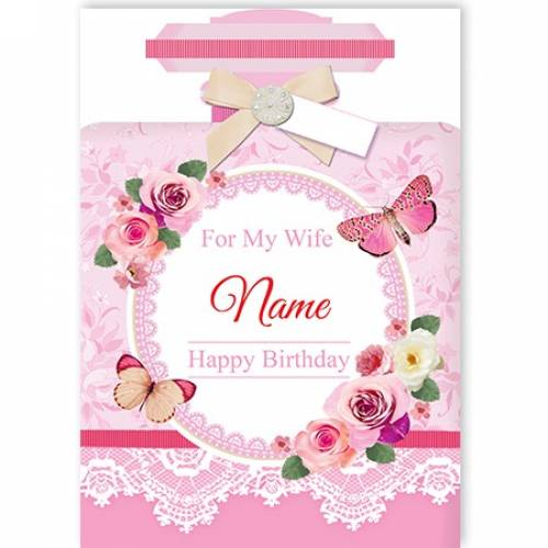 For My Wife Happy Birthday Card