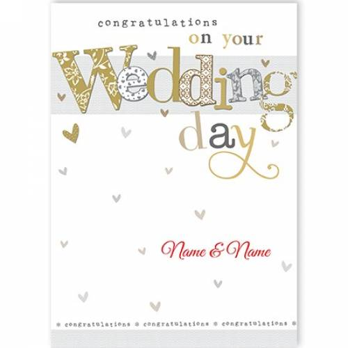 Congratulation On Your Wedding Day Card
