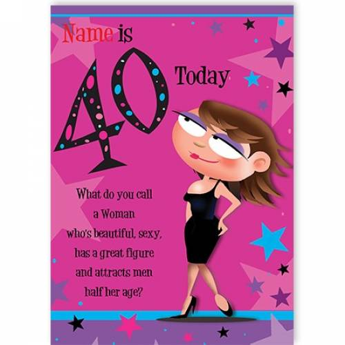 40th Female Birthday Card