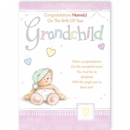 Congratulations On Birth Of Grandchild Card