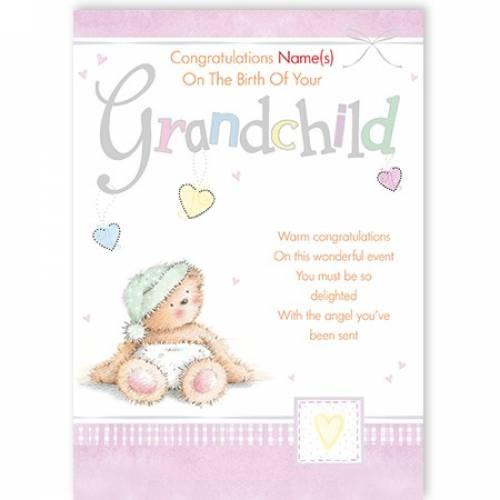 Congratulations On Birth Of Grandchild Card