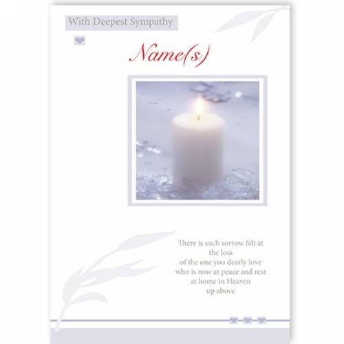 Candle Sorrow With Deepest Sympathy Card