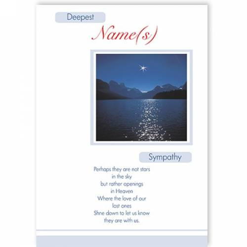Scenic Lake Deepest Sympathy Card