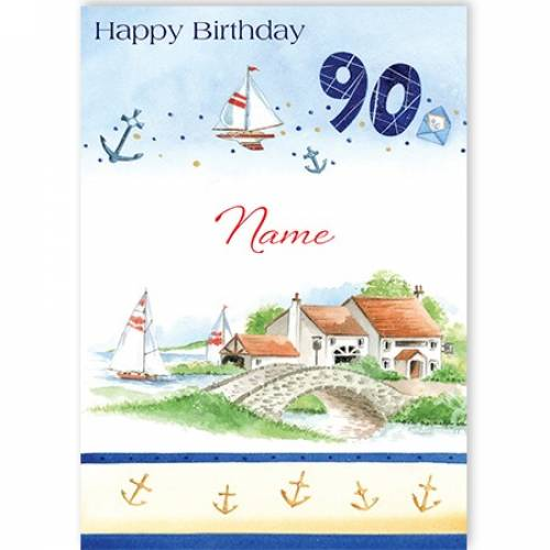 Country Home 90th Birthday Card
