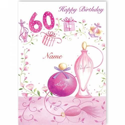 Perfume Bottle 60th Birthday Card