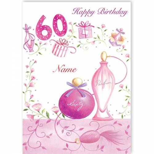 Perfume Bottle 60th Birthday Card