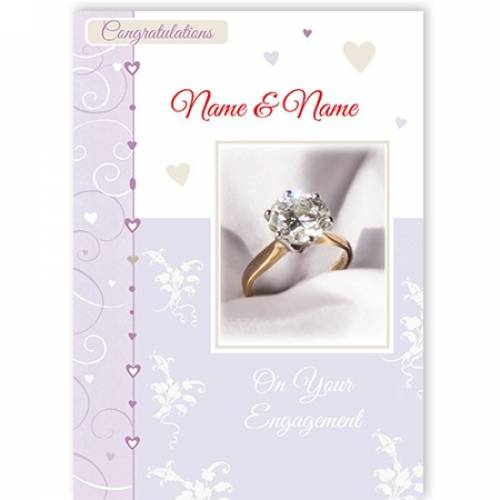 Diamond Ring Congratulations On Your Engagement Card