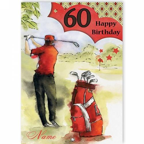 Golf 60th Birthday Card