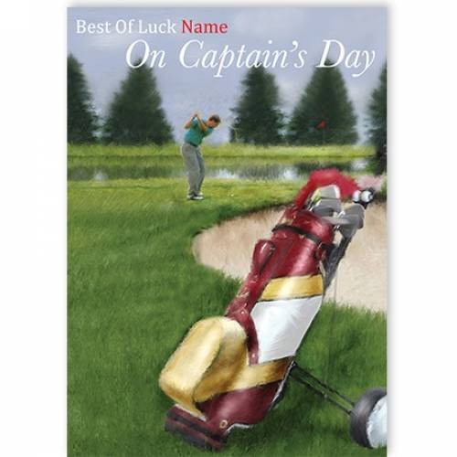 Best Of Luck On Captain's Day Card
