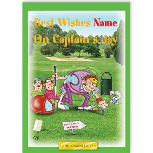 Best Wishes On Captain's Day - The Longest Drive Card