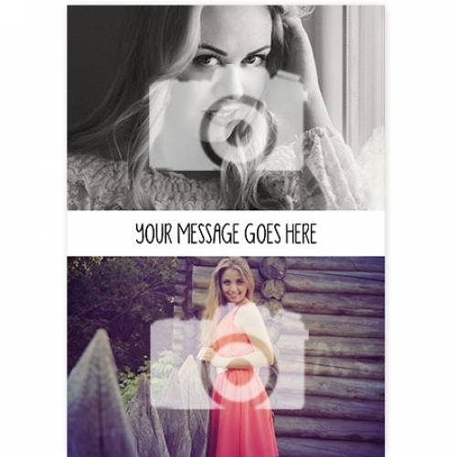 Two Photo Insert Message Any Occasion Card