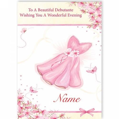 Beautiful Debutante Wonderful Evening Debs Card