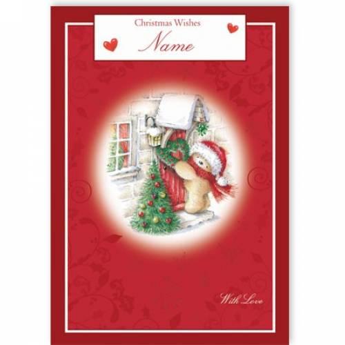 Christmas Wishes Tree Christmas Card