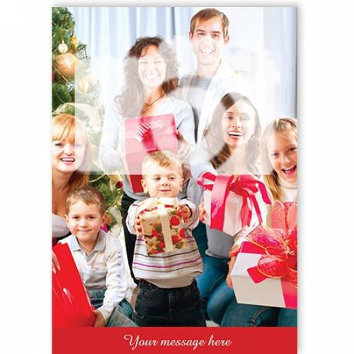Photo Blank Message Christmas Card