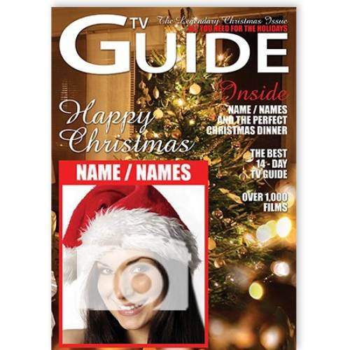 TV Guide Happy Christmas From Names Christmas Card