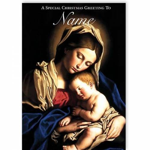 Mary And Jesus Special Christmas Greeting Card