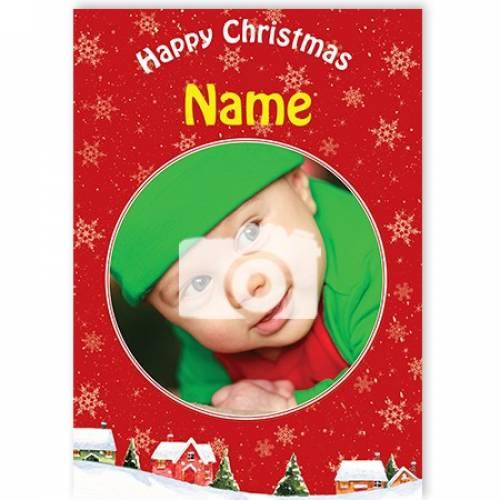 Photo Happy Christmas Card