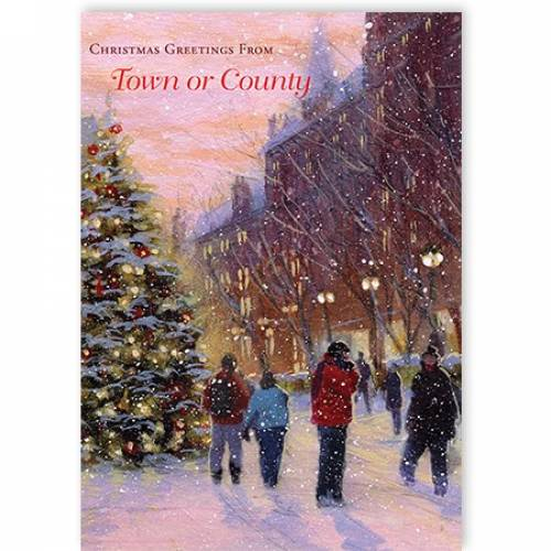 Christmas Greetings From Insert Your Town Or County Christmas Card