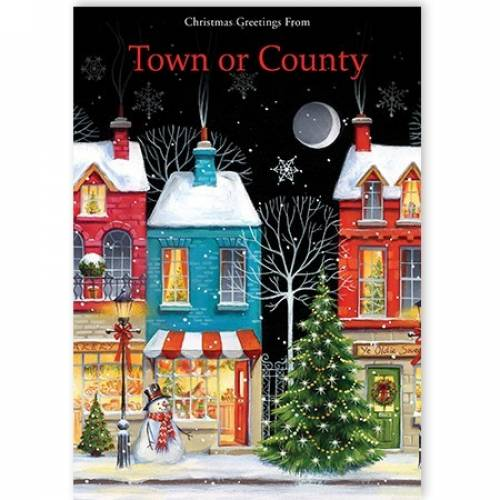 Christmas Greeting From Town Or County Card