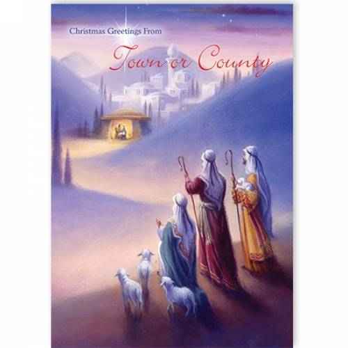 Nativity Christmas Greetings From Town Or County Christmas Card