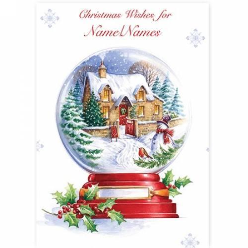 Christmas Wishes Snow Globe Card