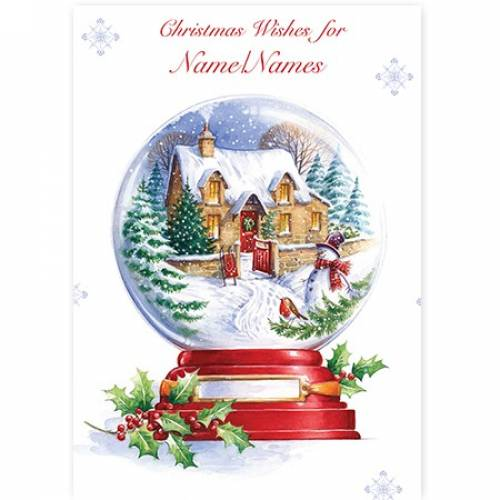 Christmas Wishes Snow Globe Card