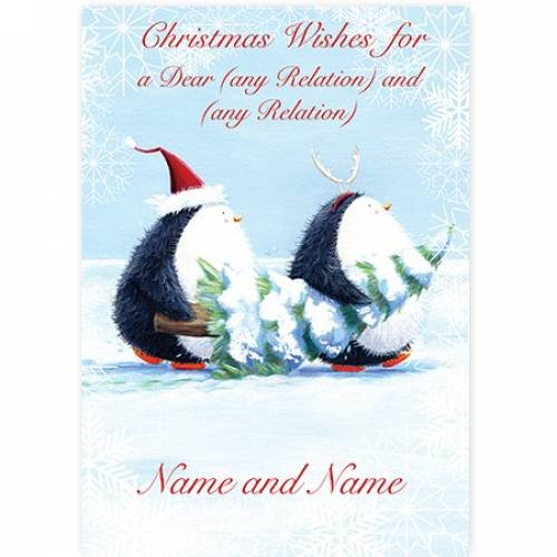 Christmas Wishes Penguin Card