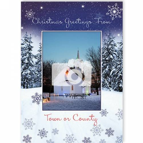 Greetings From Town Or County Christmas Card