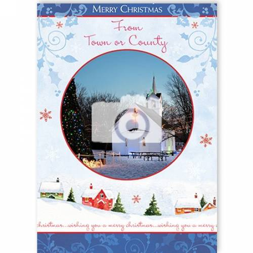 Merry Christmas From Any Town Or County Photo Card