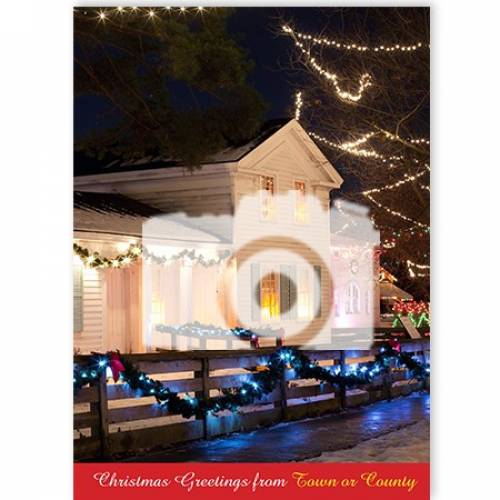 Photo Upload Christmas Greetings From Town Or County Card