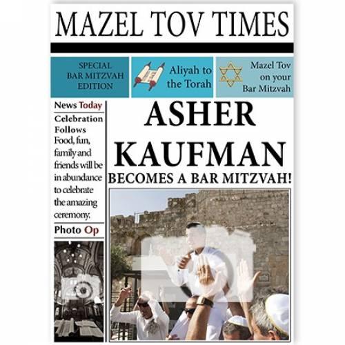 Bar Mitzvah Boy Jerusalem Photo Newspaper Card