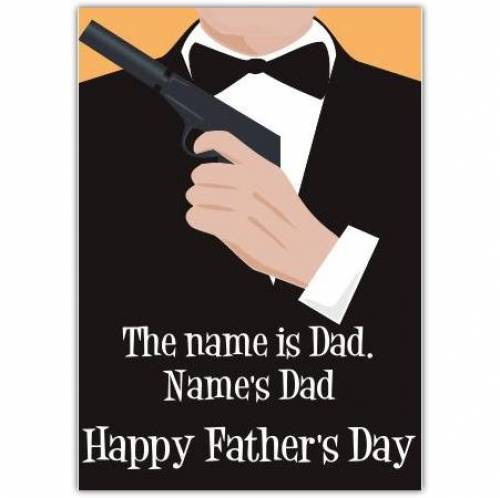 Happy Father's Day Suited Card