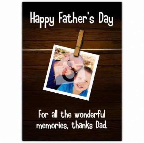 Happy Father's Day Photo Peg Card