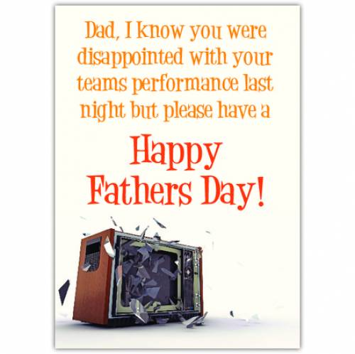 Happy Father's Day Team Card