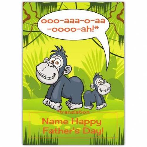 Happy Father's Day Little Monkey Card