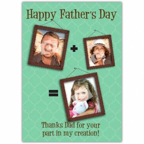 Happy Father's Day My Creation Card