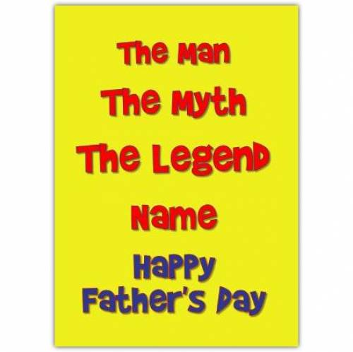 The Man The Myth The Legend Card