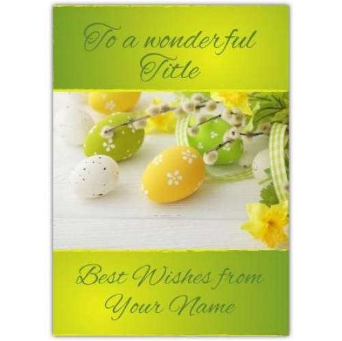 Easter Wishes Card