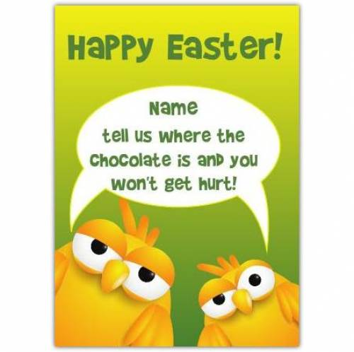 Happy Easter Humour Card
